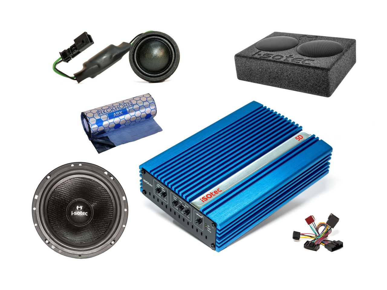 VW Golf 7 Car-Hifi-Set | Verstärker | Woofer | Speaker