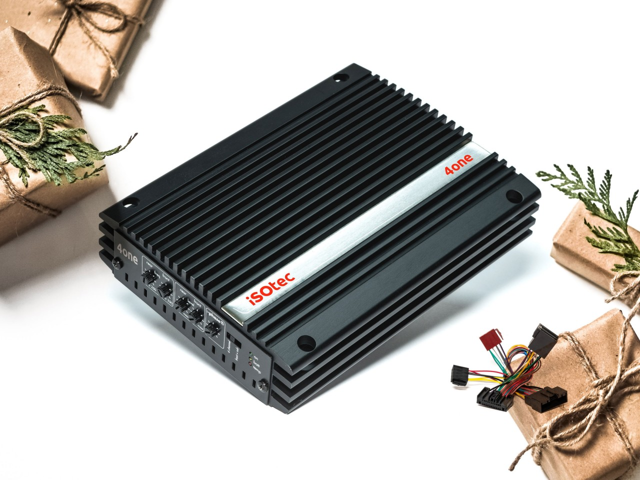 4one | Analog-Verstärker 320 Watt mit Radioadapter | plug & play