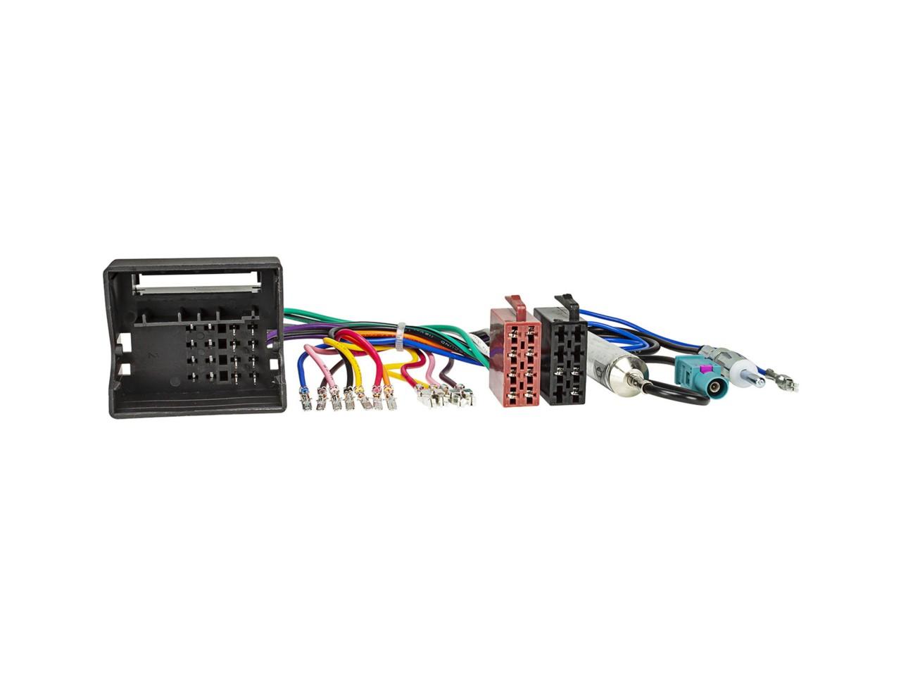 JAYKS | Radio Adapter Kabel Quadlock auf ISO universal steckbare Stromversorgung + Antennenadapter mit Phantomeinspeisung Fakra auf DIN
