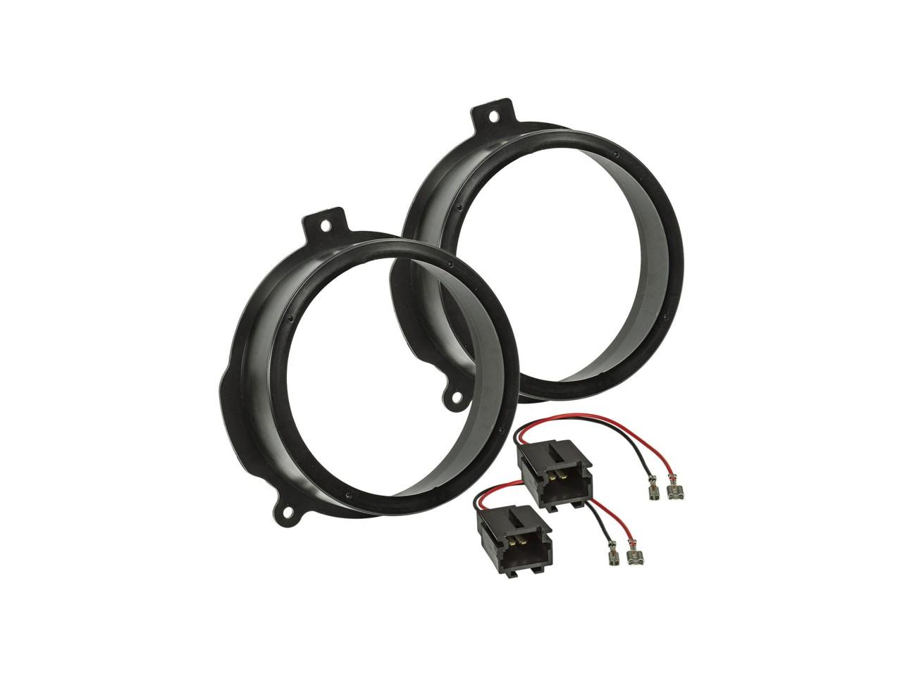 Lautsprecherringe-Set - Adapter-Kabel für Citroen Berlingo u.a. | 165mm