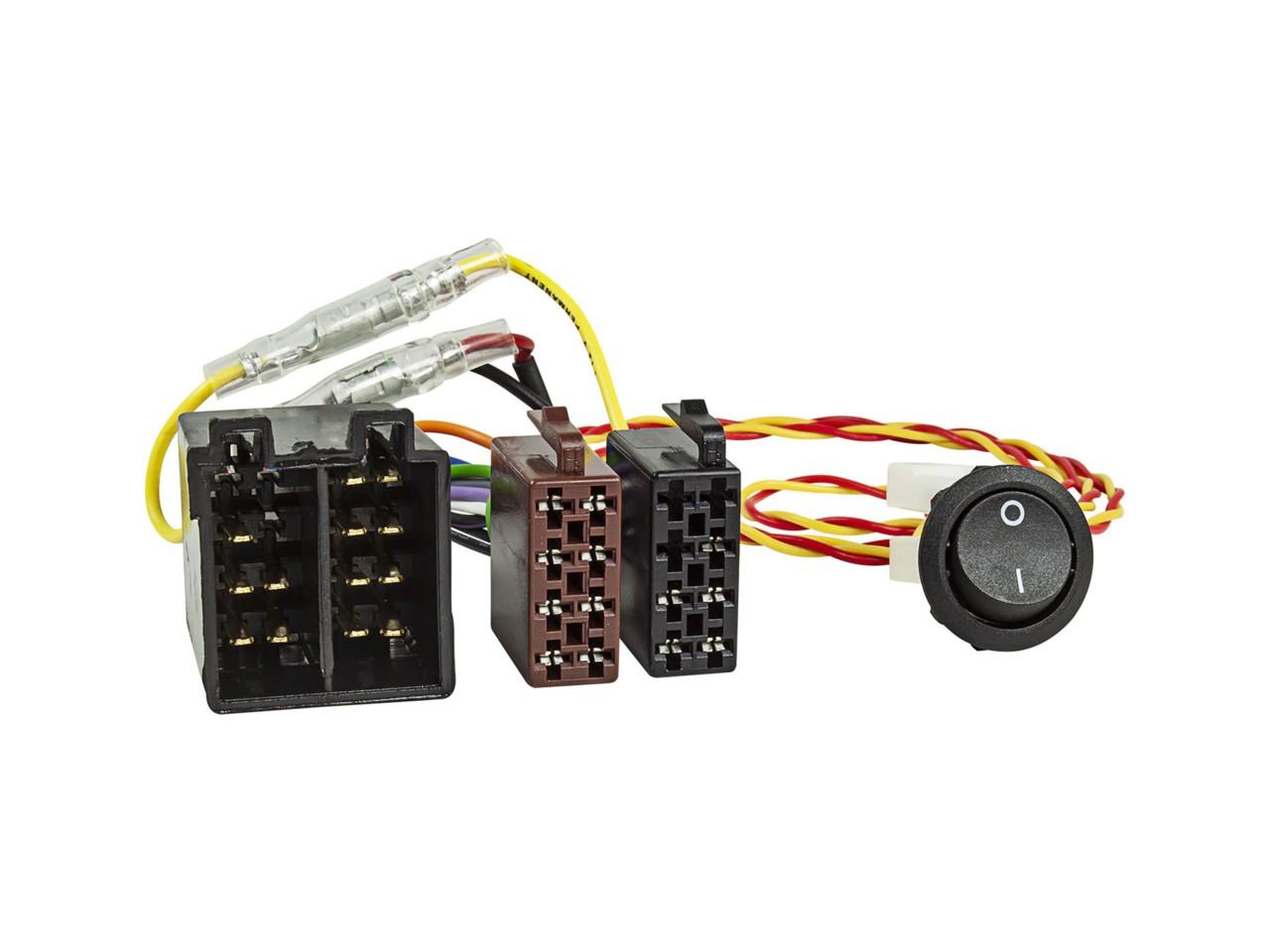 JAYKS   Radio-Adapterkabel ISO-ISO Strom + Lautsprecher mit EIN-AUS Schalter
