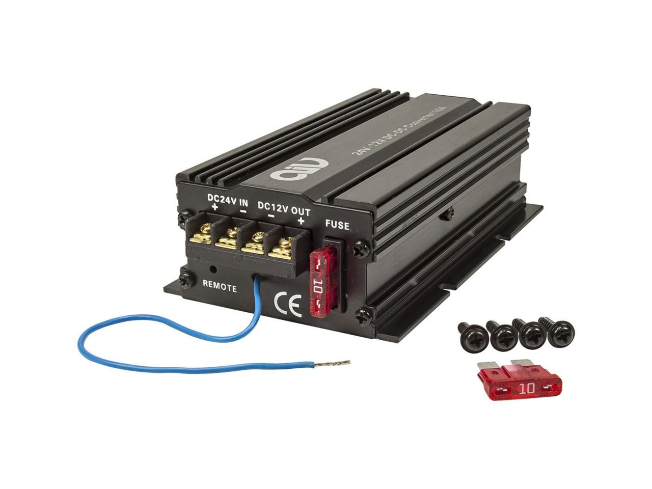 JAYKS | Spannungswandler Inverter 24V auf 12 Volt 10A für LKW Boot Bus Wohnmobil